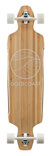 GoldCoast Longboard Bamboo Drop-Through Classic, Talla única, COM-CB-DT