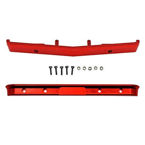 Perfeclan Parachoques Delantero/Trasero Mejorado para SCX24 90081 1: 24 báscula 4WD RC Hobby Car DIY Suministros - Rojo