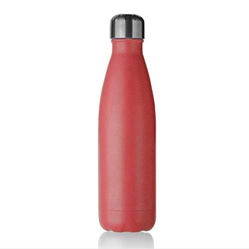 Botella de agua aislada al vacío de acero inoxidable de 500 ml – Termo de doble pared – 24 horas de frío, 12 horas de calor – Botella de agua de metal reutilizable