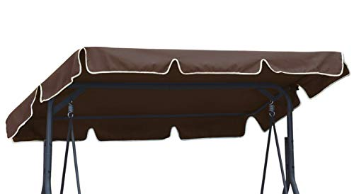 Ferocity Universal coloured replacement canopy for Swing Cover Patio Hammock Cover Top Garden Outdoor size 112 x 166 cm Brown [101]