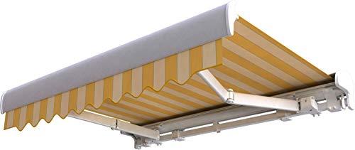 Broxsun Kassettenmarkise Pacific, 2,1 bis 7m, 120 Stoffe Farben, Auslage bis 3,6m, Markise, Breite von 351 bis 410cm, Länge 160cm, Motor Digital/Fernb./Funk Windautomat