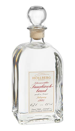 Original Höllberg Sauerkirschbrand Carré 43% Vol, Jahrgang 1995   Premium Obstbrand mit edlem Sauerkirsch Aroma   Edelbrand aus Familienbrennerei