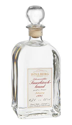 Original Höllberg Sauerkirschbrand Carré 43% Vol, Jahrgang 1995 | Premium Obstbrand mit edlem Sauerkirsch Aroma | Edelbrand aus Familienbrennerei