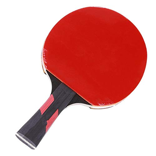 DAUERHAFT Pong Paddle Sport Equipment con Bolsa de Almacenamiento Sports Fitness Table Tennis Racket Alta Durabilidad para Tenis de Mesa para Uso en Interiores o Exteriores(Long Handle)