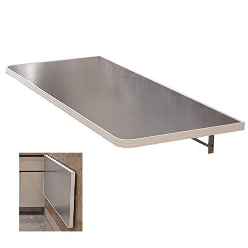 QQXX uitklapbaar, aan de muur gemonteerde Drop Leaf-tafel, Milk Tea Shop werkbank van roestvrij staal, bekleding 100 kg (maat: L 90 en B 30 cm), L 90 × B 30 cm n9 N9