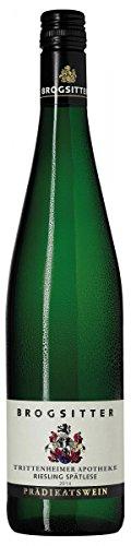 Weinkellerei Brogsitter Riesling Trittenheimer Apothek Spätlese mild 2014/2016 Lieblich (3 x 0.75 l)