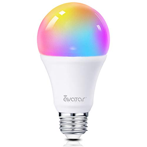 Bombilla Wifi Inteligente, Alexa LED Multicolor Lampara E27 7W RGBW 91