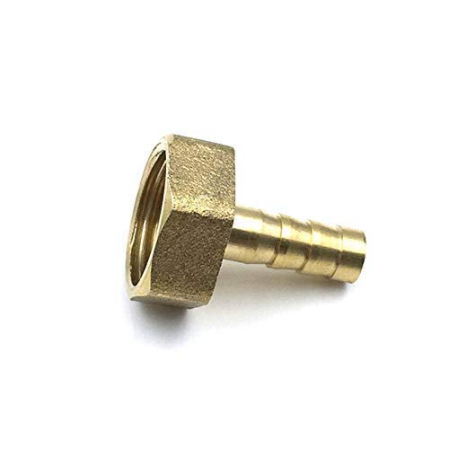 Lcuilin-Montaje de tuberías de Hardware Hose Tail Thread 1/8 1/4 3/8 1/2 Brass Tubo de Agua Fittings, 6 8 10 12 14 mm Pagoda Hose Barb Connector, Duradero (Color : PCF, Size : 8mm)