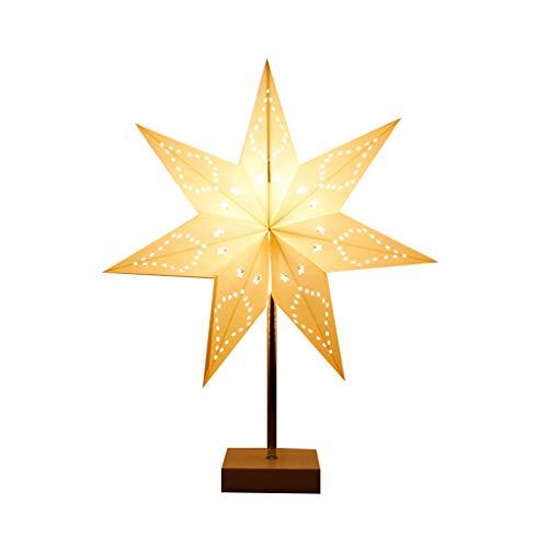 Zi Yang Personalidad Estrella Lámpara de Mesa Creativo Minimalista Cuarto Lámpara de Noche Moderno Arte Blanco Decoración Luz de Noche Moda Estudiar Sala Lámpara de Escritorio MAX40W H45 * D35CM