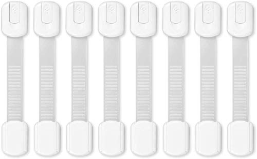 Kindersicherung Schranksicherung Yosemy 8 Stück Safety Baby Kindersicherung, zum Kleben ohne Bohren Schloss für Schränke und Schubladen (weiß) (8 Stück)