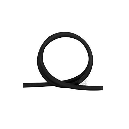 Shisha King® Premium Silikonschlauch matt | 150cm lang | für alle Wasserpfeifen & Mundstücke | Zubehör Shisha Schlauch lebensmittelecht Silikon Softtouch Flexibel (Black)