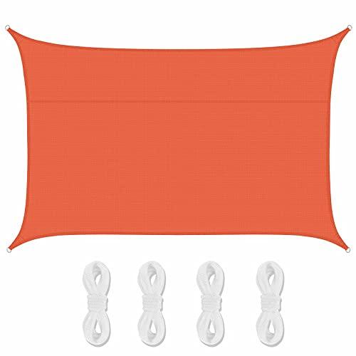 Lanbent Voile d'ombrage Impermeable Rectangulaire, 95% Anti UV Abri Voiture de Pergola pour Patio Extérieur, Jardin, Serre, Terrasse et Camping Toile d'ombrage