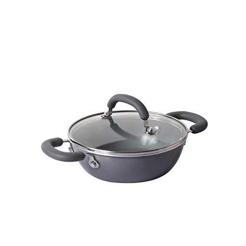 Meyer Anzen Healthy Ceramic Kadai with Lid, 20cm
