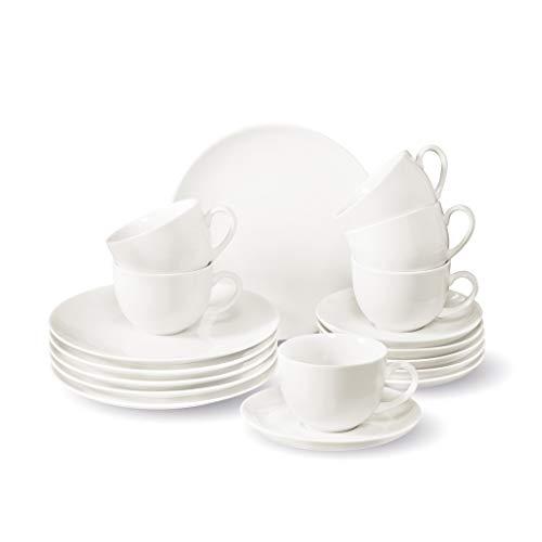 Villeroy & Boch NewFreshBasic Kaffeeset 18 tlg. Geschirrsets, Porzellan, weiß, 18tlg, Einheiten