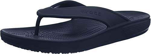 Crocs Classic II Flip Flop|Casual Beach Shower Shoe Sandal, Navy, 10 US Women / 8 US Men M US