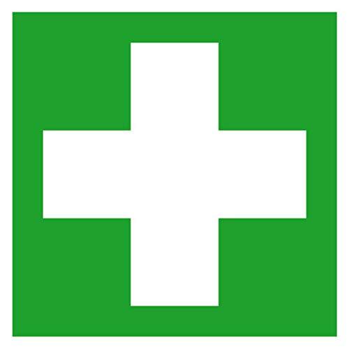 Erste Hilfe Rettungsschild, Kunststoff, 20x20 cm