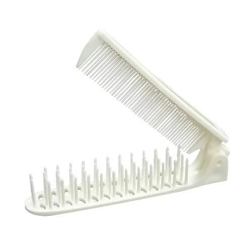 ホテルアメニティ 使い捨てヘアブラシ 個包装タイプ 業務用 コーム付折りたたみブラシ ×400個セット (コーム&スリムヘアーブラシ 2WAYTYPE)