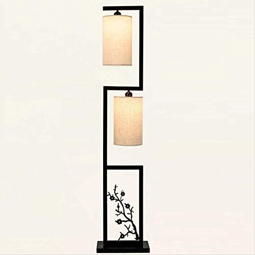 Stehleuchte Chinesische Stehlampe Schlafzimmer Wohnzimmer Kreative Retro-Studie Stand-Up-Lampe Einfache Moderne Led-Bett Kopf Vertikale Tablelamp
