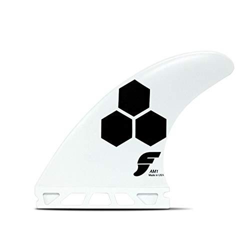 Juego de tres aletas unisex AM1 de Futures Fins, blanco