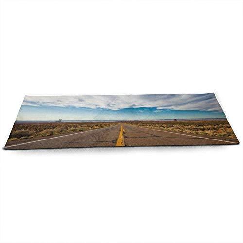 ZSW Clouds Landscapes Desert Highwayoads Infinity Skyscapes Stripes Esterilla de yoga con bolsa de malla de yoga gratis Esterillas de ejercicio antideslizantes ecológicas para Pilates.
