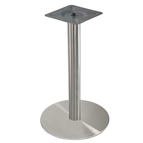 Tischgestell Tischbeine Tischfuß Untergestell Rund Bodenplatte,aus Edelstahl Höhe 72cm für Bistrotisch Bistro Gastro Tisch