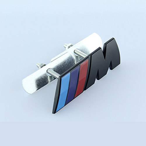 Mynew insignia de la parrilla delantera del coche etiqueta insignia de la parrilla ajuste para BMW M-power logo E46 E90 F20 E60 E39 F10 X1 X3 X4 X5 X6 X7 piezas de automóvil (negro liso)