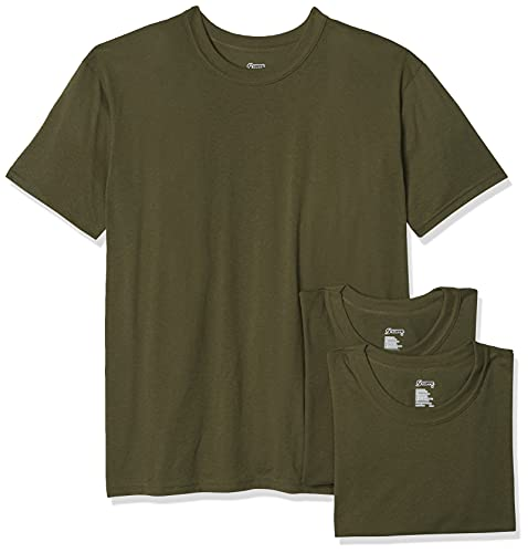 Soffe Men's 3 Pack - USA Poly/Cotton Military Tee, OD Green, X-Large