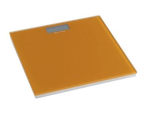 WENKO Personenwaage digital - orange - LCD-Display - Badwaage bis 150 kg - Sicherheitsglas - 30 x 30 x 2 cm - Waage - Digitalwaage