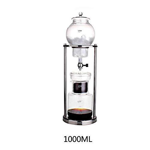Xiangpian183 Cold Drip Kaffeemaschine Mit Glasfilter - Cold Brew Dripper Espressokaffee Dripper Coffee Pot Duth Kaffeemaschine (1000ml)