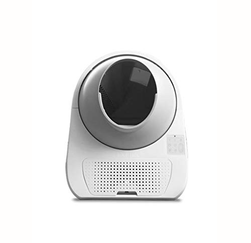GBY Elektrische Katzenstreu Smart Cat Toilette Voice Smart Katzenklo Automatik Katzentoilette komplett geschlossene elektrische Schaufel groß