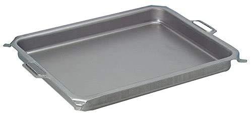 BSR-Grillen Stahlpfanne, Grillpfanne, Stahlblech-Pfanne, ca. 635 x 515 mm, 60 mm tief, für 3-flammigen Gasgrill