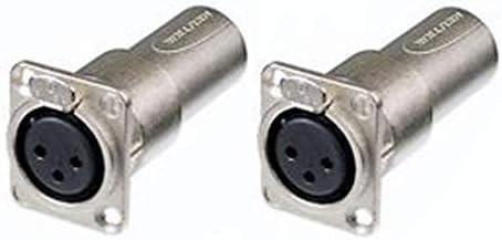 2 Neutrik NA3FDM Adapter 3 Pin Mic XLR Female Male Feed Pass Thru Converter product image