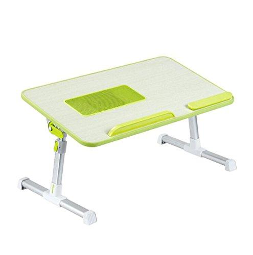 Portable Portable Bed Desk, Pliable Notebook Reading Dorm Student Multifonction Réglable Petit Petit Plateau (Couleur : Green)