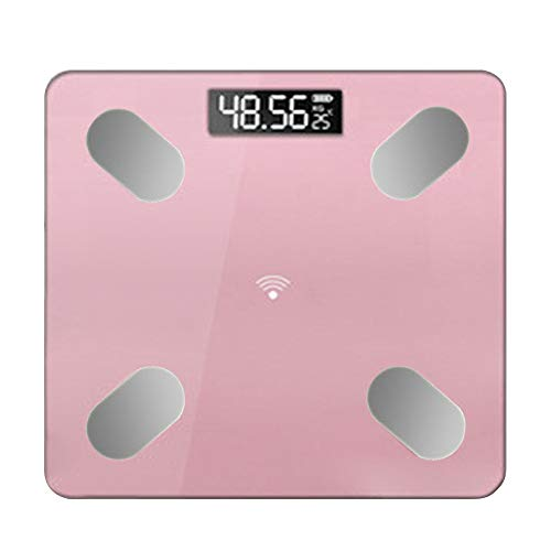 Sale!! wvcetgbwe Body Fat Scale Home Smart Body Monitor LED Display Bluetooth APP BMI Lightweight Po...