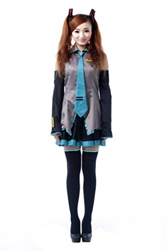 Mtxc Femmes Vocaloid Cosplay Costume Hatsune Miku Taille XX-Small Gris