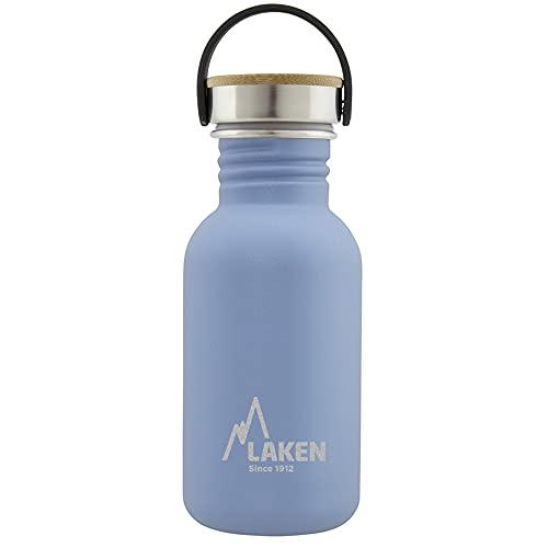 Laken Unisex - Botella de acero inoxidable muy resistente para adultos, 0,5 L, color azul, 0,5