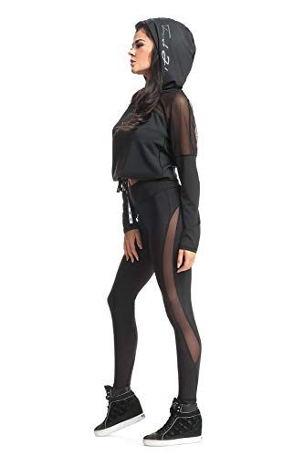 FeelJ damska bluza z kapturem SEXY, czarna, M