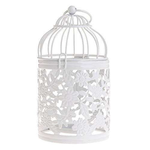 RuiPingRuiLaias Kerzenhalter Stehen Hohlhalter Kerzenständer Teelicht Hängen Laterne Vogelkäfig Vintage-Schmiede New für die Inneneinrichtung (Color : E)