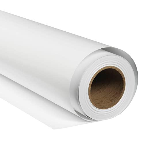 BRESSER SBP01 Papierhintergrundrolle 1,69 x 11m Arktisch Weiß