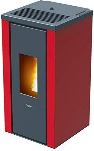 Pegaso Vera - Estufa de pellets (7 kW), color rojo