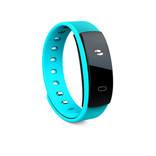 YDL Pulsera Inteligente Pulsera De Presión Arterial Ritmo Cardíaco Fitness Sleep Medida IP67 Rastreador De Llamadas A Prueba De Agua para Moblie Teléfono (Color : Blue)