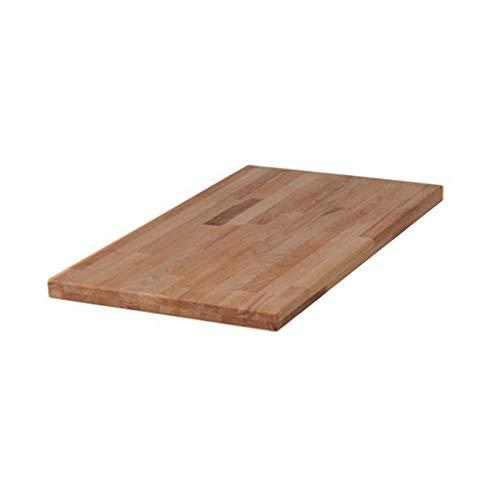 SAM Ansteckplatte 45 x 90 cm für Tisch Helmut aus Wildeiche Massivholz, Verlängerung für mehr Platz