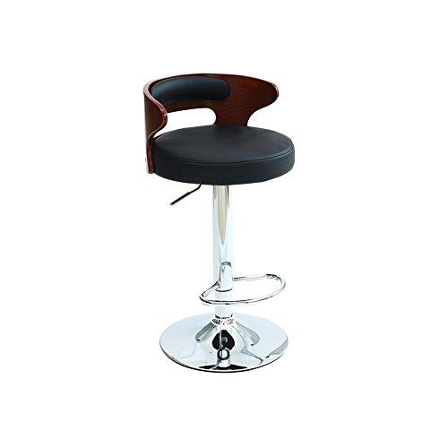 Dall Tabourets FL-143 Simple Et Pratique Tabouret De Bar Haut Pied Tabouret Banc Avant Chaise d'accueil Rotatif L Goutte 77-97cm De Haut (Couleur : Black)