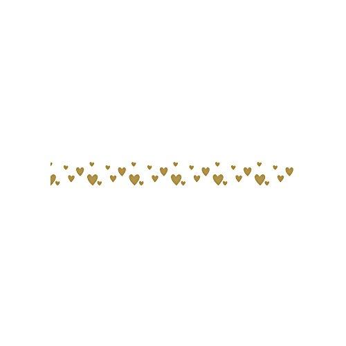 Washi Tape Curs dorés sur fond blanc - 15 m x 1 cm