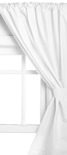 Carnation Home Fashions Vinyl Bathroom Window Curtain, White