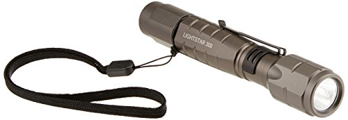 TerraLUX TLF-3002AA-BK LightStar300 3-Watt LED Aluminum Flashlight,Titanium Grey