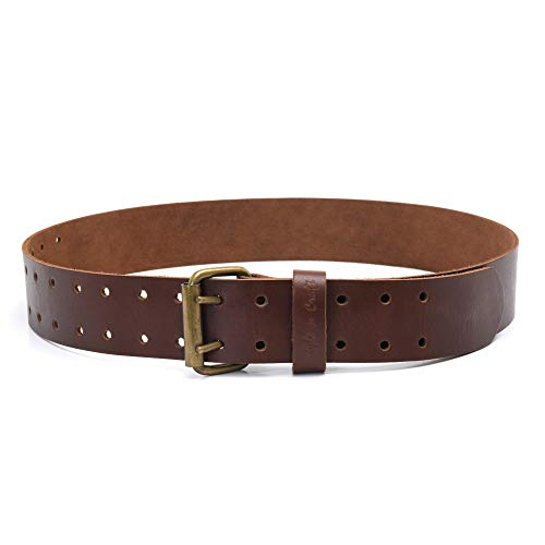 "Style n Craft 98052-2"" Wide Work Belt in Dark Tan Heavy Top Grain Leather"