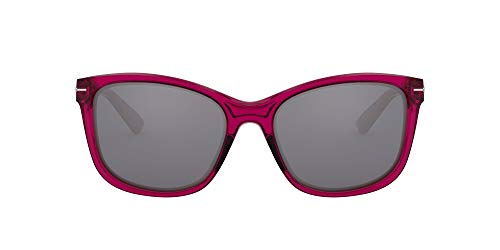Oakley Women's OO9232 Drop-in Cateye Sunglasses, Crystal Raspberry Rose/Black Iridium, 58 mm