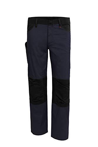 Qualitex X-Serie Unisex Bundhose in Marine/schwarz Größe 42, Lange Arbeitshose für Herren und Damen, Cargohose mit vielen Taschen