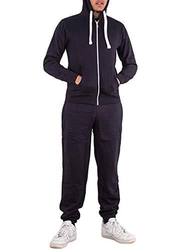 Love My Fashions hommes bas de survêtement jogging polaire fermeture éclair HAUT TAILLE S à XXL - Bleu marine, Medium